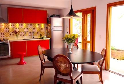 Vista Cozinha para Área Externa